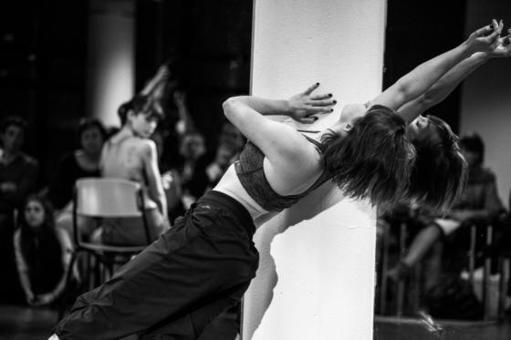 Professionele dansers tijdens Open Stage 1, NDC 31 januari 2014. Foto: Richard Beukelaar